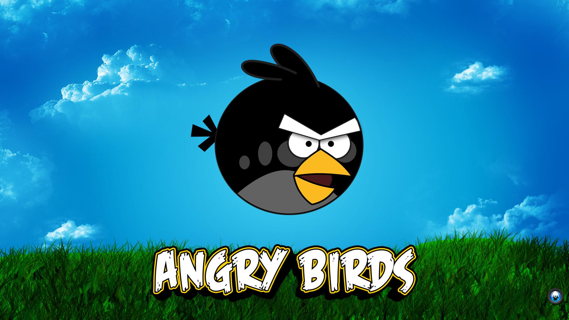 Angry Birds fekete csirke háttérkép