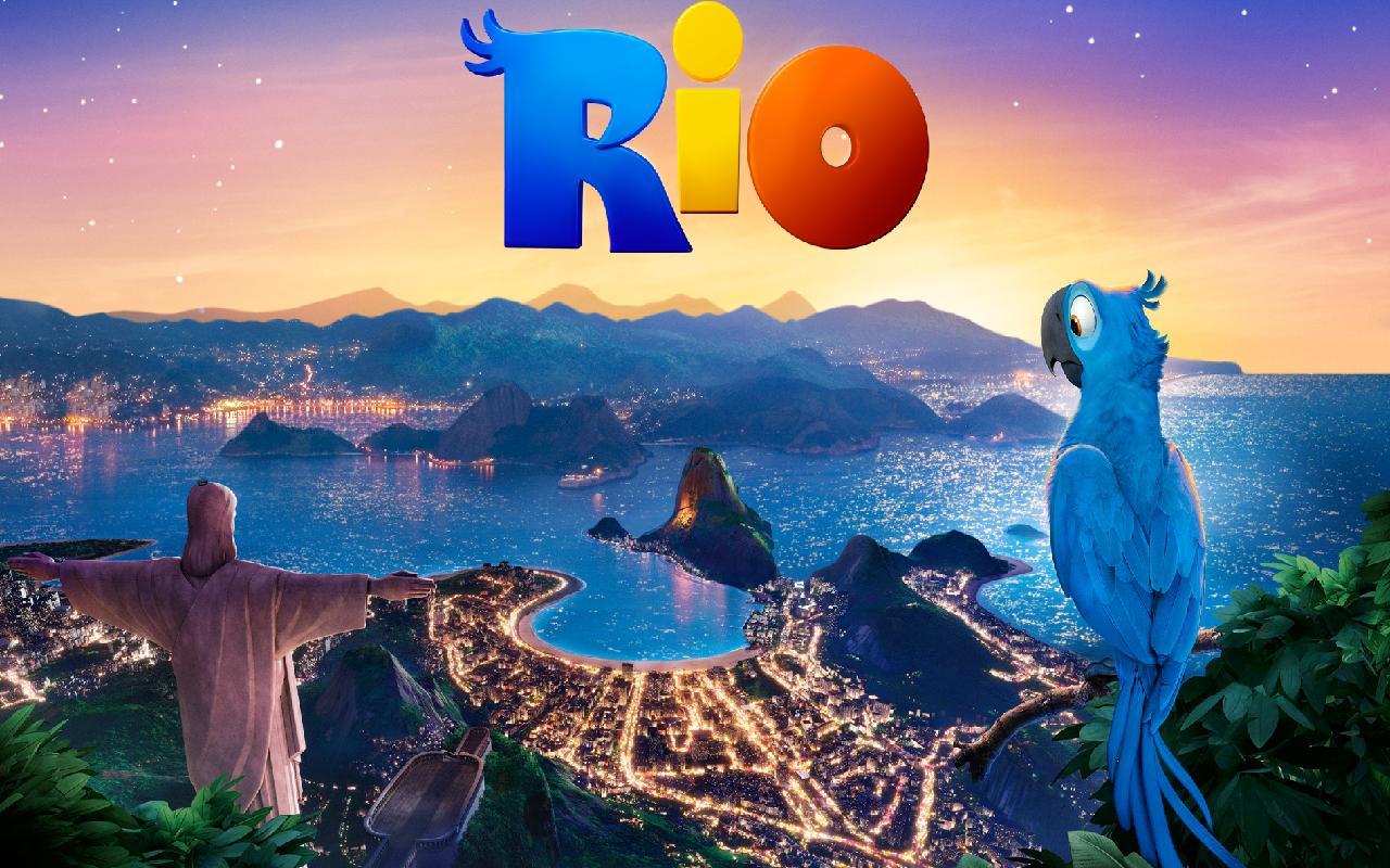 Angry Birds Rio papagály háttérkép
