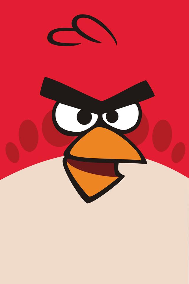 Angry Birds iphone 4 háttérkép piros