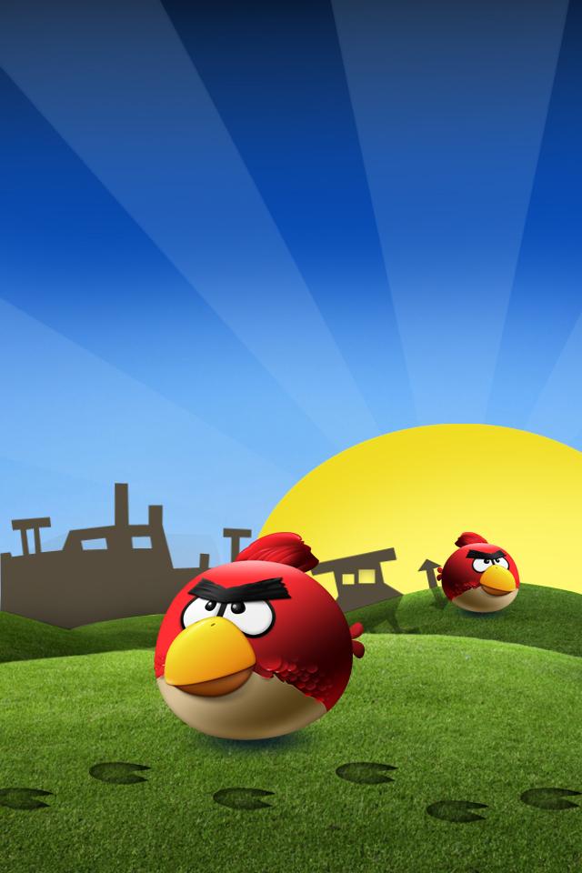 Angry birds iphone 4 háttérkép csirke