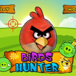 Angry Birds csirke vadászat játék