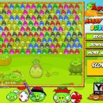 Színes madarak lövése Angry Birds játék