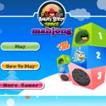 3D Mahjong Angry Birds játék