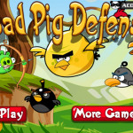 Bad Pig Defense Angry Birds játék