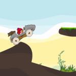 Kő korszaki autós Angry Birds játék