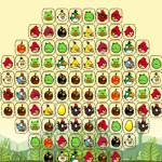 Színes madarak Mahjong Angry Birds játék