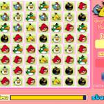 Színes mérges madarak Angry Birds játék