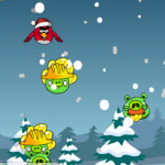 Karácsonyi pénz gyűjtés Angry Birds játék