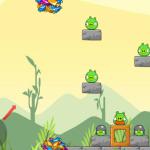Zöld malac lövés Angry Birds játék